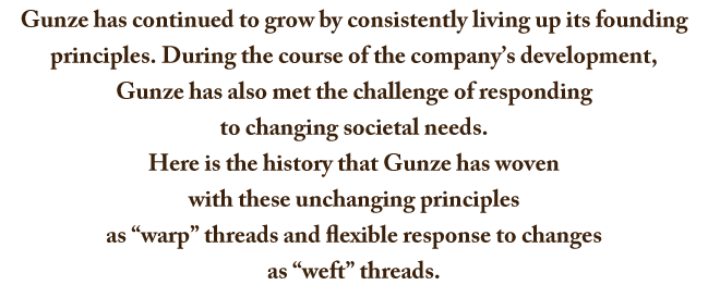 August 10, 2016 marked the 120th anniversary of Gunze's founding.